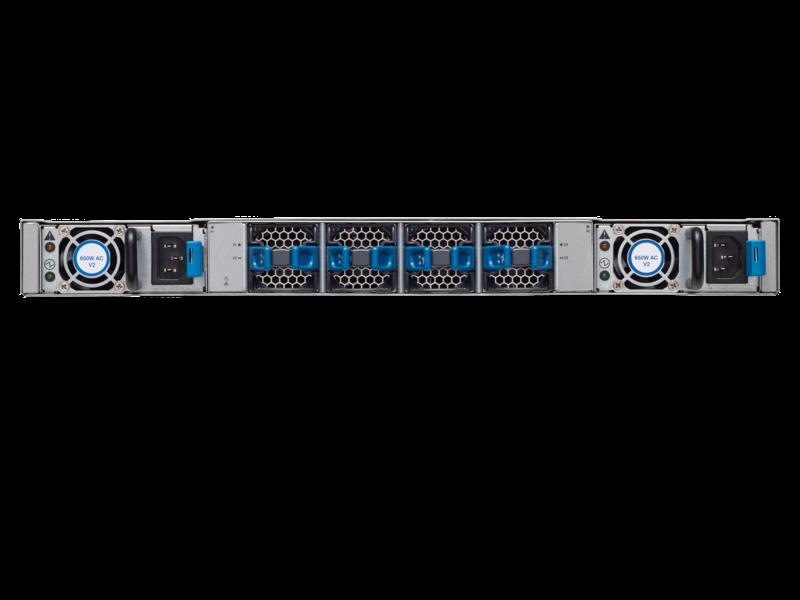 HPE StoreFabric SN6620C 32Gb 24-port 32Gb SFP+ Fibre Channel Switch Rear facing
