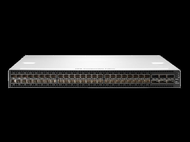 Módulo de estructura componible HPE de parte frontal a parte posterior FM 2072 6 puertos QSFP y 48 puertos SFP+ Center facing