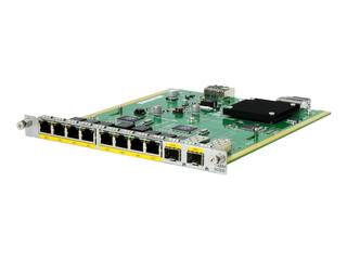 HPE MSR 8port BASE-T/2port Combo Switch HMIM Module Left facing