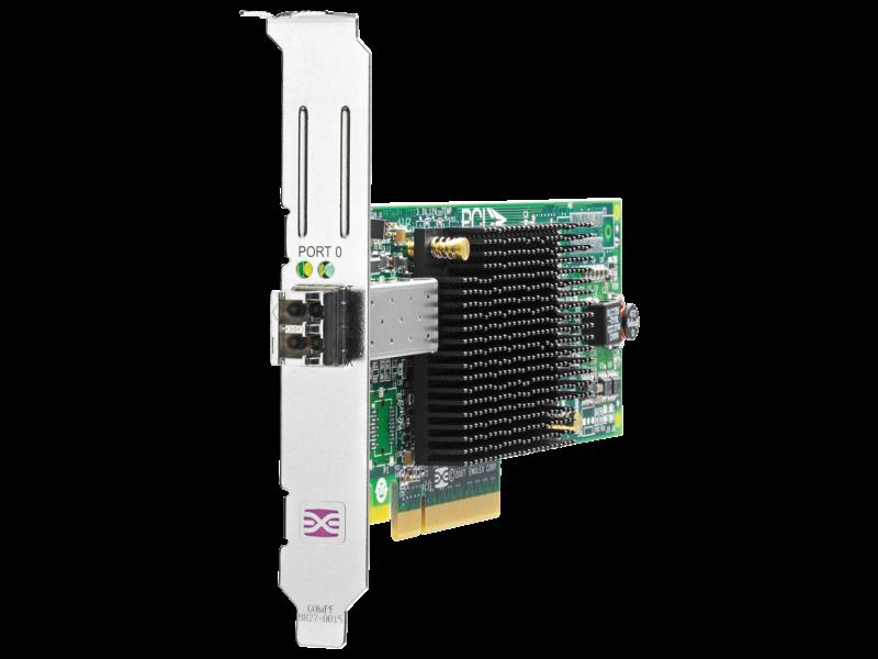 HPE 81E 8Gb 1-port PCIe Fibre Channel Host Bus Adapter Center facing