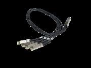 Cable bifurcador de cobre de conexión directa de 1 m 40G QSFP+ a 4x10G SFP+ HPE FlexNetwork X240