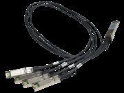 HPE X240 40G QSFP+ to 4x10G SFP+ 1m直接接続銅スプリッター ケーブル