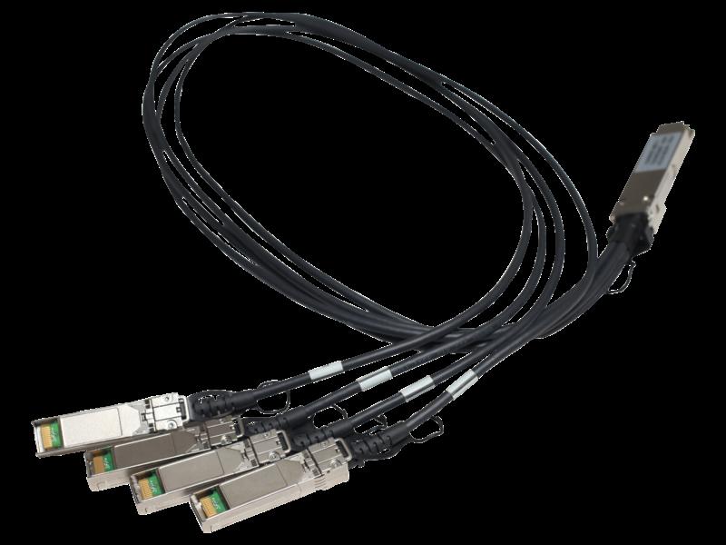 HPE X240 40G QSFP+ to 4x10G SFP+ 1m直接接続銅スプリッター ケーブル Center facing