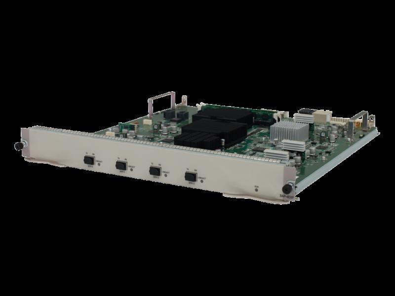 HPE FlexNetwork HSR6800 10 GbE SFP+ Service Aggregation Platform-Routermodul mit 4 Anschlüssen Left facing