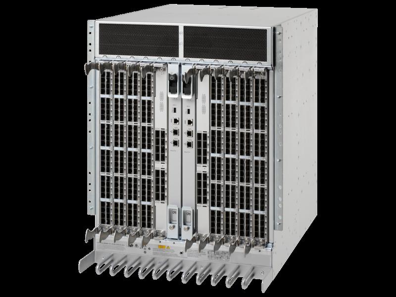 HPE StoreFabric SN8000B 8スロット電源パック+ SANバックボーンディレクタースイッチ Left facing
