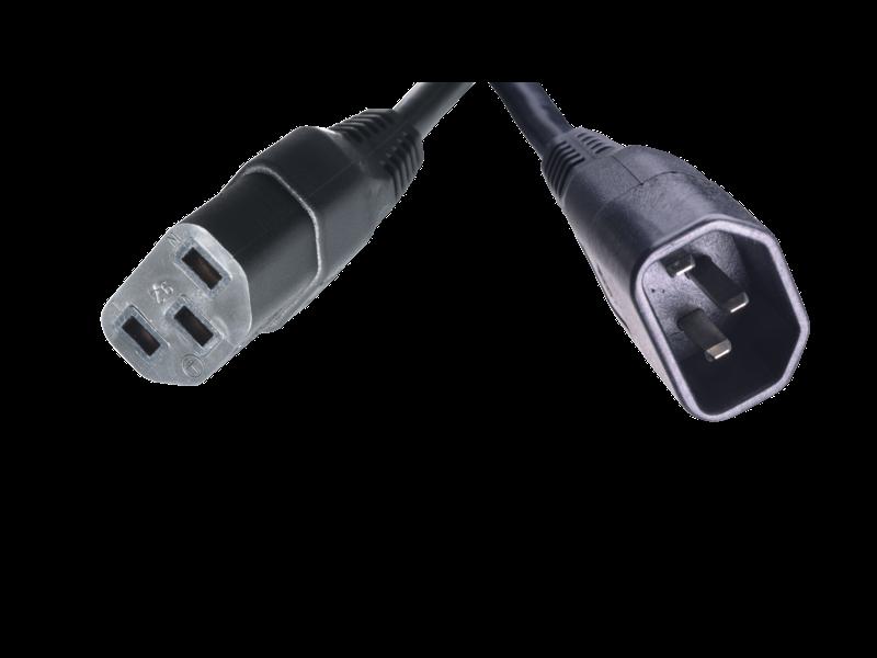 Cable de puente HPE C13 - C14 WW, 250V, 10A, 2,5 m Detail view