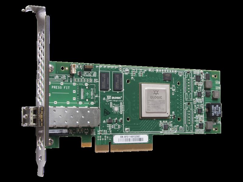 HPE SN1000Q 16Gb Single Port ファイバーチャネル ホスト バス アダプター Right facing