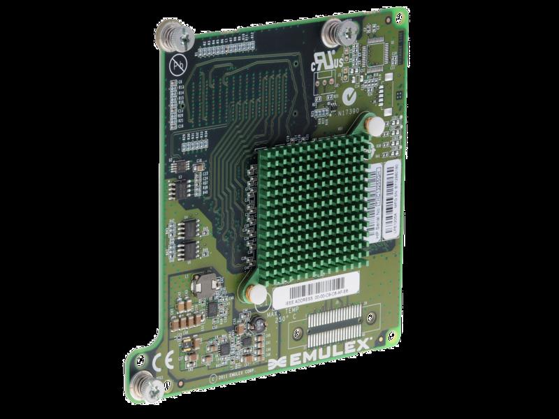 Scheda HBA Fibre Channel HPE LPe1205A da 8 Gb per BladeSystem classe C Right facing