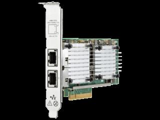 Adaptador HPE Ethernet 10Gb 2 portas 530T Left facing