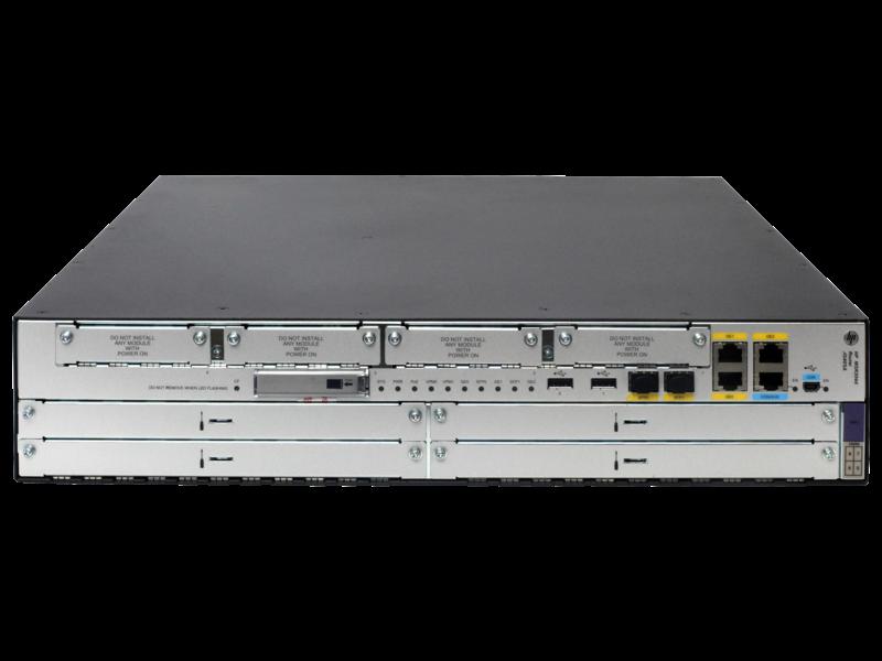 HPE FlexNetwork MSR3044 Router Center facing