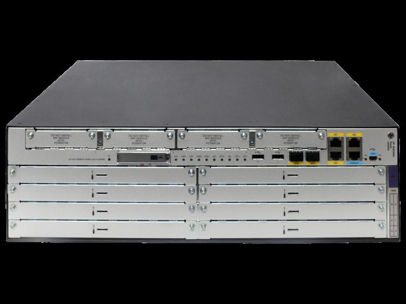 HPE FlexNetwork MSR3064 Router Center facing