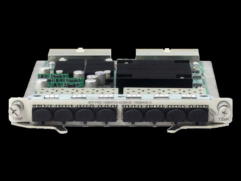 HPE FlexNetwork 6600 8-port OC-3c/OC-12c POS/GbE SFP HIM Module Center facing