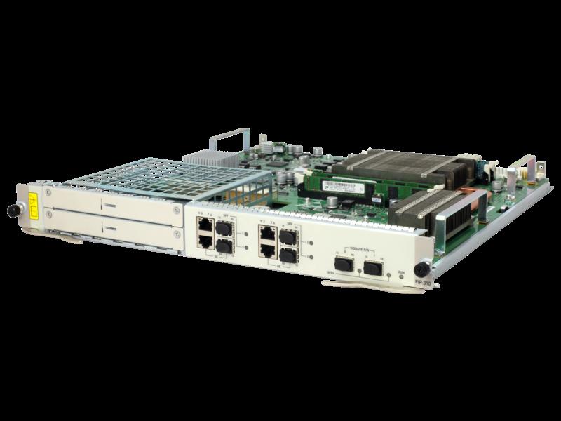 HPE FlexNetwork HSR6800 FIP-310 Flexible Interface Platform-Modul Left facing
