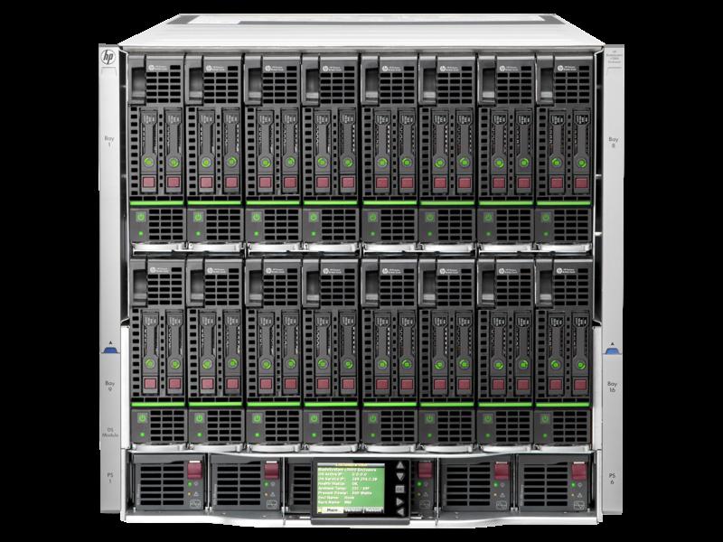 HPE BladeSystem c7000 인클로저 Center facing