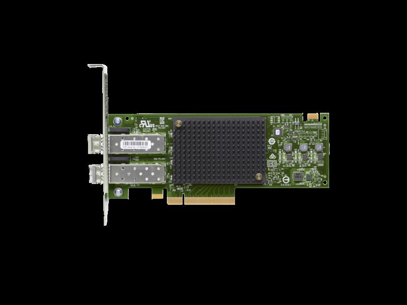 HBA-адаптер Fibre Channel HPE StoreFabric SN1200E 16 Гбит/с, 2 порта Center facing