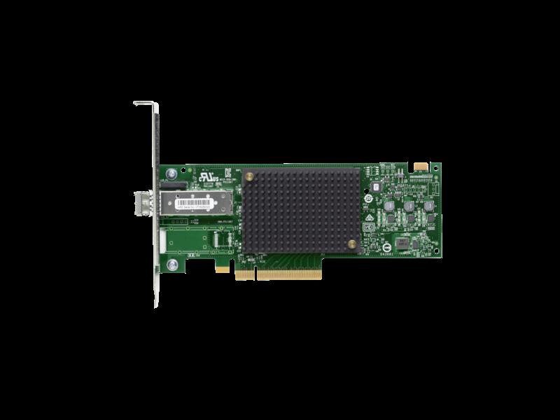 HBA-адаптер Fibre Channel HPE StoreFabric SN1600E 32 Гбит/с, 1 порт Center facing