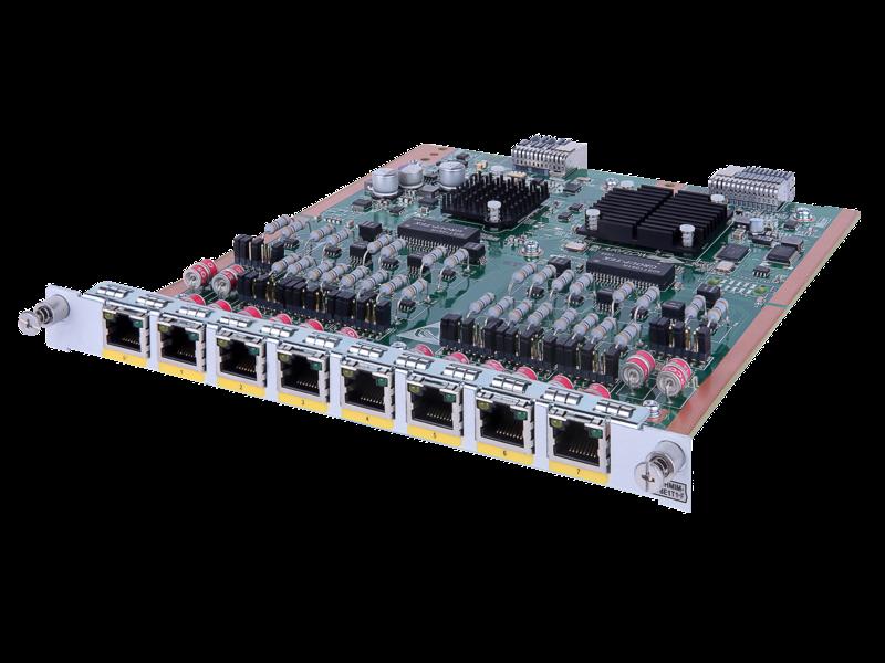 Модуль HPE FlexNetwork MSR, 8 разъемов E1/Fractional E1/T1/Fractional T1 HMIM Left facing