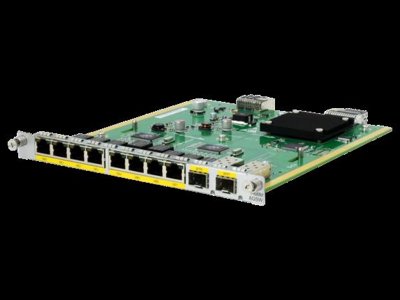 HPE FlexNetwork MSR 8-port 10/100/1000BASE-T/2-port 1000BASE-X (Combo) Switch HMIM Module