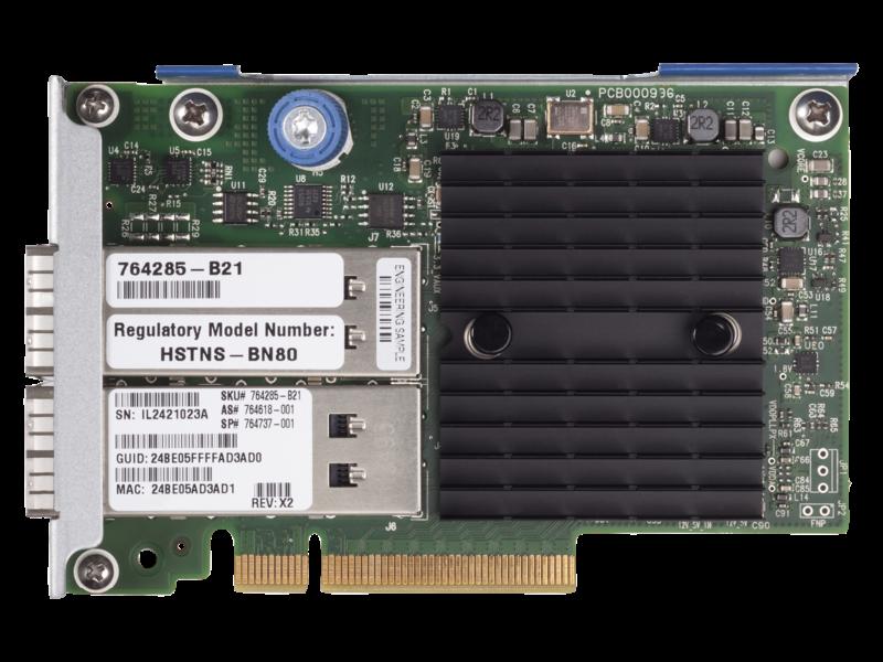 HPE InfiniBand FDR/Ethernet 10Gb/40Gb 2-port 544+FLR-QSFP Adapter Center facing