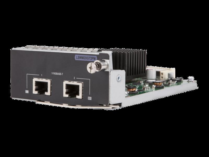 Módulo de 2 puertos 10GBASE-T para HPE 5130/5510 Left facing