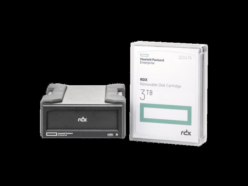 HPE RDX 3TB External Disk Backup System Center facing