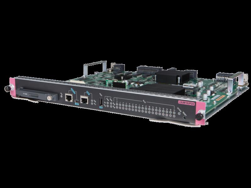 HPE FlexNetwork 10500 D 型主处理单元(采用 Comware v7 操作系统) Left facing