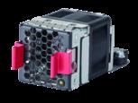 2 HPE X711 Hochleistungs-Lüftereinschübe für Luftstrom von vorne (Anschlussseite) nach hinten (Netzanschluss)