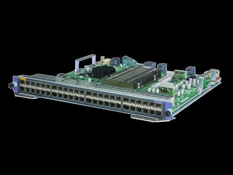 HPE FlexNetwork 10500 48 端口 1/10GbE SFP+ SG 模块 Left facing