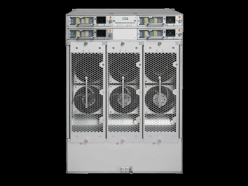 SN8600B 8-slot Power Pack+ SAN ダイレクタースイッチ Rear facing