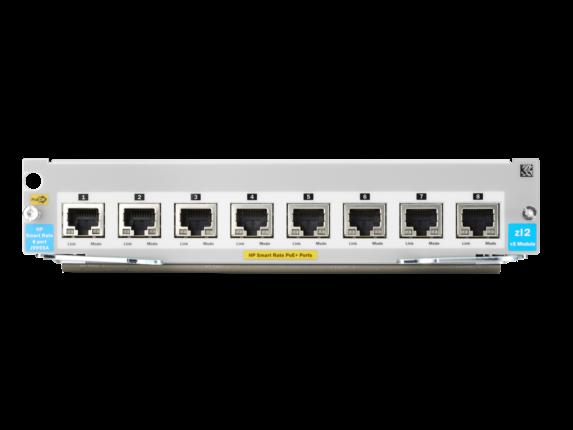 Aruba 8-port 1/2.5/5/10GBASE-T PoE+ MACsec v3 zl2 Module