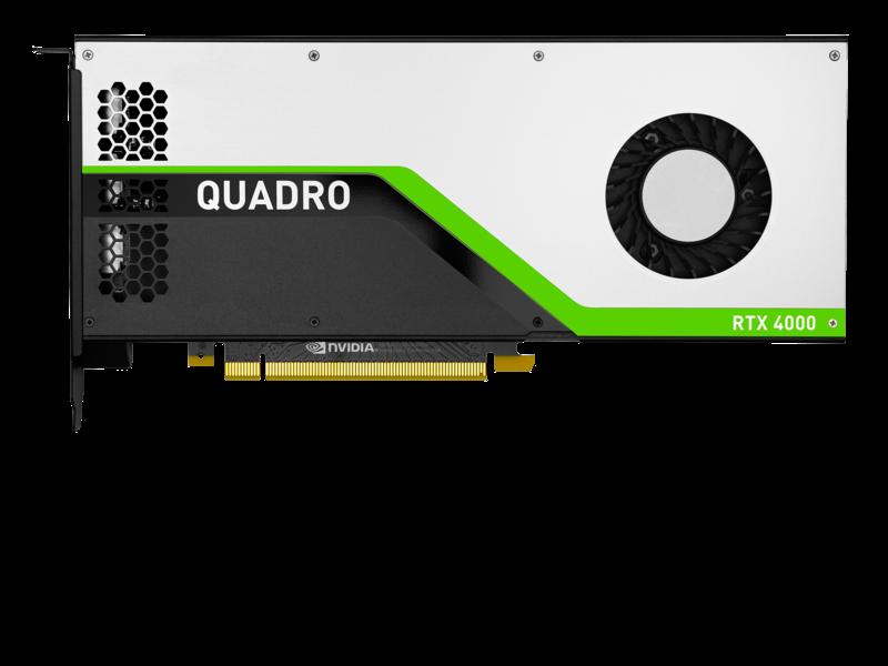 HPE NVIDIA Quadro RTX 4000グラフィックスアクセラレータ Center facing