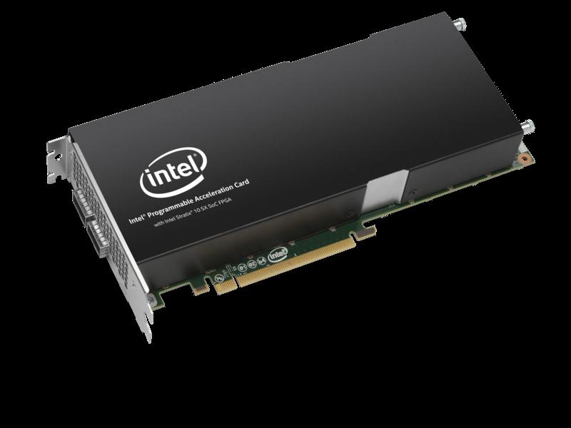 适用于 HPE 产品的英特尔 FPGA PAC D5005 加速器 Left facing