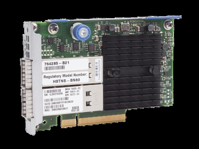 Adaptador HPE InfiniBand FDR/Ethernet de 10Gb/40 Gb y dos puertos 544+FLR-QSFP Right facing