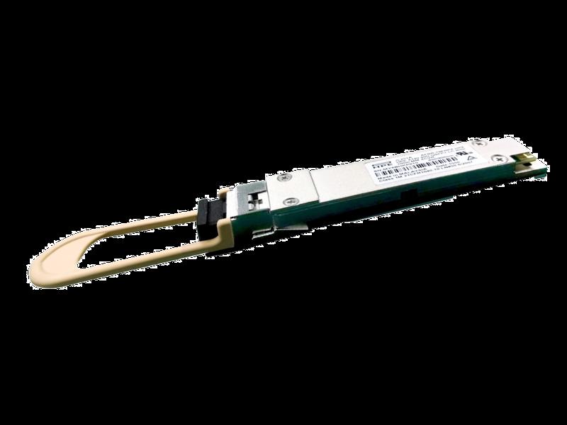 HPE X150 100G QSFP28 LC BiDi 100m MM Transceiver Left facing