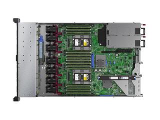 Serveur HPE ProLiant DL360 Gen10 4208 monoprocesseur 16Go-R P408i-a NC 8 disques à petit facteur de forme - module d'alimentation 500W Top view open