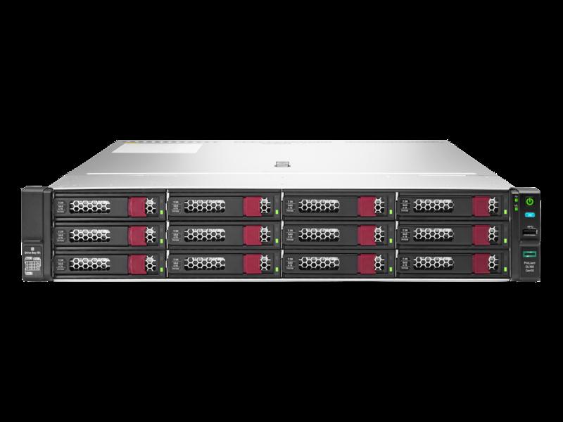 HPE ProLiant DL180 Gen10 4208 1P 16GB-R P408i-a 12LFF 500 瓦电源服务器 Center facing