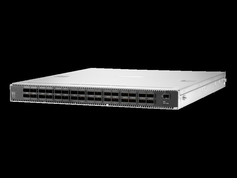HPE 可组合结构 FM 3132Q 32 端口 100 千兆以太网 QSFP28 1RU 从后到前交换机 Left facing