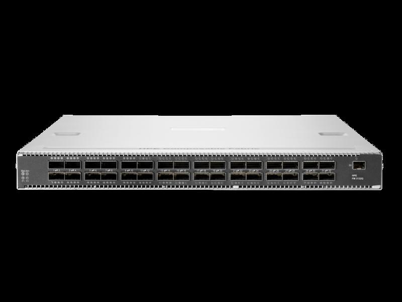 HPE 可组合结构 FM 3132Q 32 端口 100 千兆以太网 QSFP28 1RU 从后到前交换机 Center facing