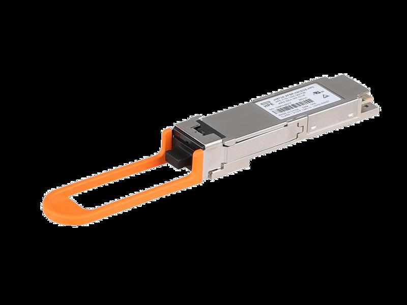 HPE X150 100G QSFP28 eSR4 300m MM Transceiver Left facing