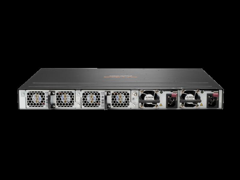 Aruba 6300M 24 端口 1 千兆以太网和 4 端口 SFP56 交换机 Rear facing