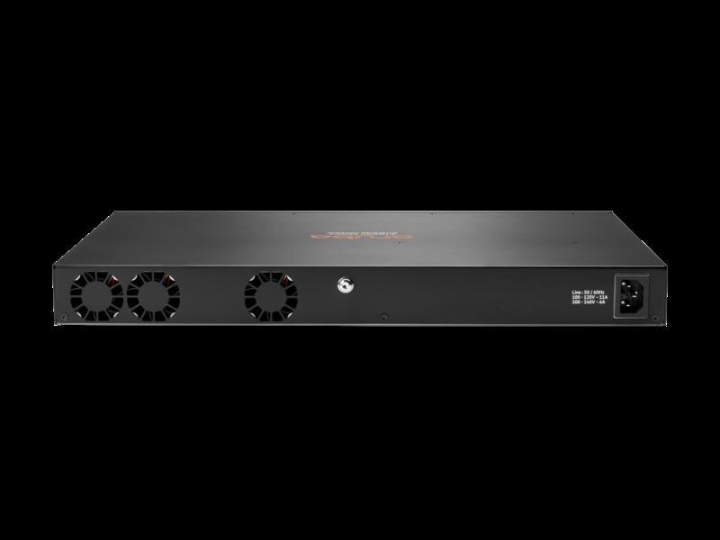 Aruba 6300F 24 端口 1 千兆以太网 4 类 PoE 和 4 端口 SFP56 交换机 Rear facing