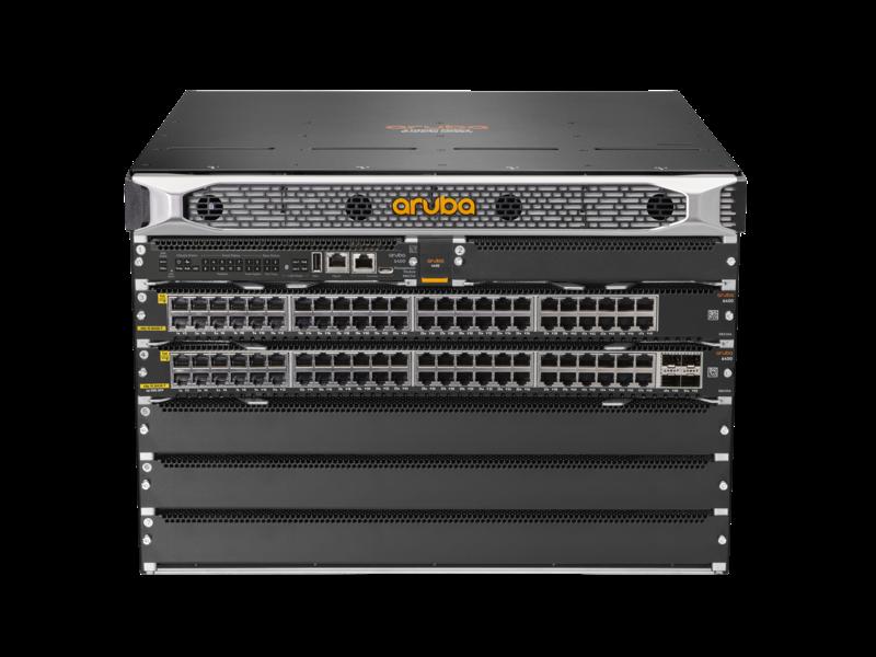 Aruba 6405 96 端口 1 千兆以太网 4 类 PoE 和 4 端口 SFP56 交换机 Center facing