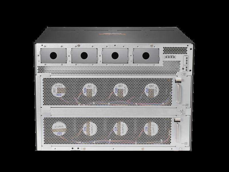 Aruba 6405 96 端口 1 千兆以太网 4 类 PoE 和 4 端口 SFP56 交换机 Rear facing