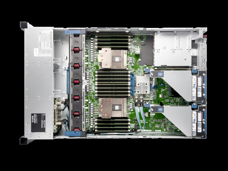 Servidor HPE ProLiant DL385 Gen10 Plus Top view open