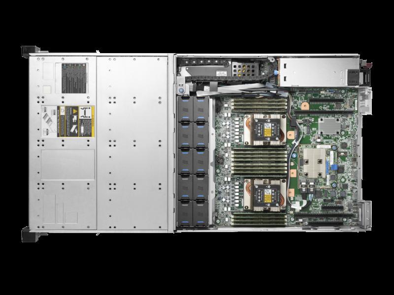 HPE Apollo 4200 Gen10 服务器 Top view open