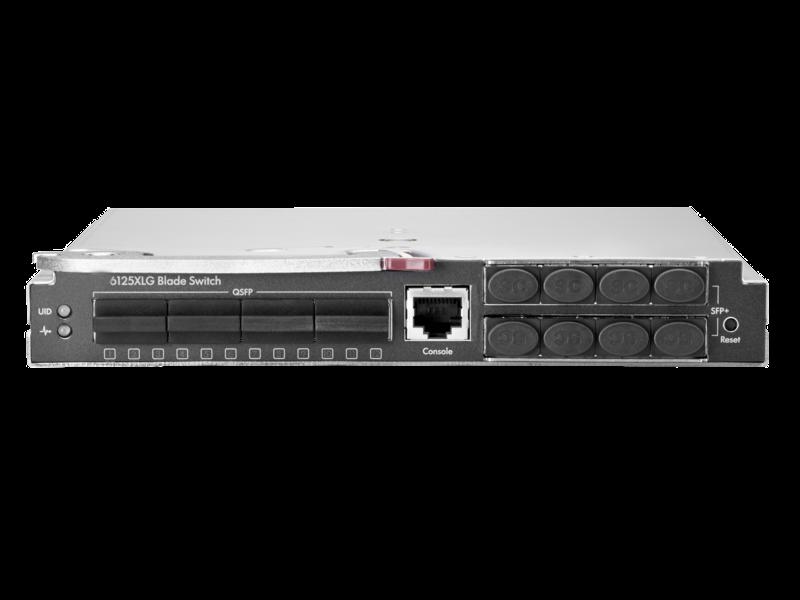 HPE 6125XLG 以太网刀片交换机 Center facing