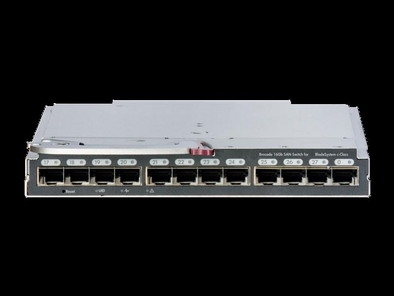 Commutateur Brocade SAN 16 Go pour HPE BladeSystem c-Class Center facing