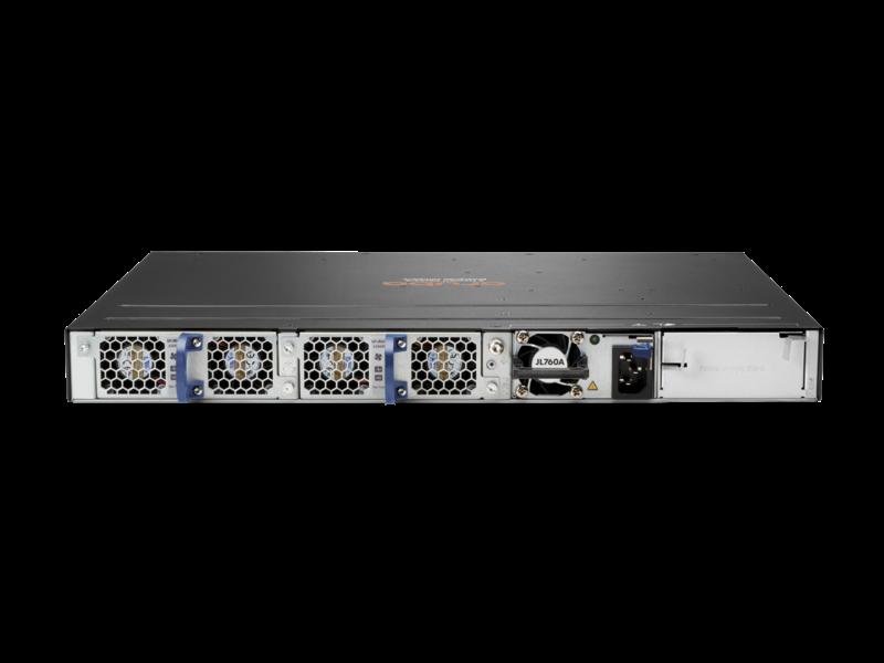 Aruba 6300M 48 端口 1 千兆以太网和 4 端口 SFP56 电源到端口双风扇托盘 1 PSU 捆绑包 Rear facing