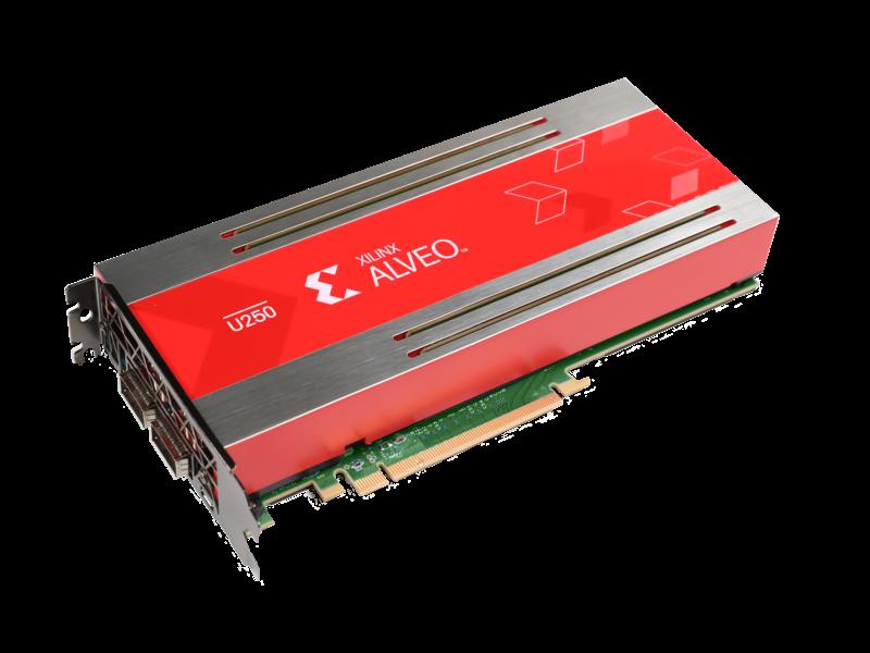 适用于 HPE 产品的 Alveo U250 加速器 Left facing