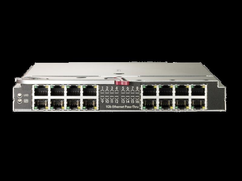 HPE 1GB 以太网通道模块(用于 BladeSystem c-Class) Center facing